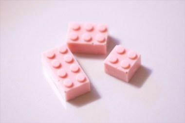 шоколад лего формочки розовый