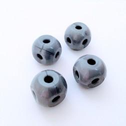 Метал (6 отворів, срібний) — 4 шт.