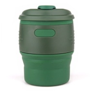 Silicone-Retractable-Folding-Coffee-Cup-Army-Green