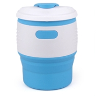 Silicone-Retractable-Folding-Coffee-Cup-Light-Blue-White