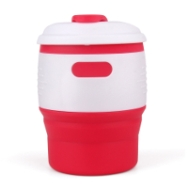 Silicone-Retractable-Folding-Coffee-Cup-Red-White