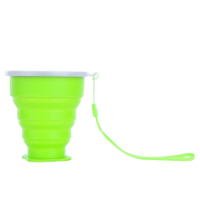 Travel-Silicone-Retractable-Folding-Cup-Telescopic-Collapsible-Green