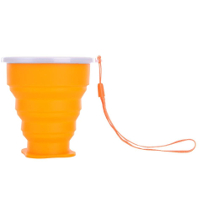 Travel-Silicone-Retractable-Folding-Cup-Telescopic-Collapsible-Orange
