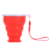 Travel-Silicone-Retractable-Folding-Cup-Telescopic-Collapsible-Red