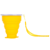 Travel-Silicone-Retractable-Folding-Cup-Telescopic-Collapsible-Yelow